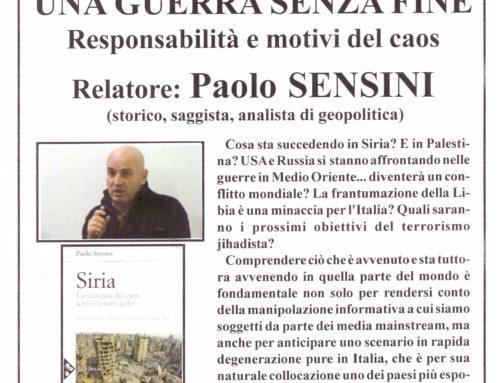 Conferenza pubblica con Paolo Sensini